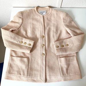 78a597619c7b CHANEL Light Pink Classic Tweed Blazer / Jacket 44